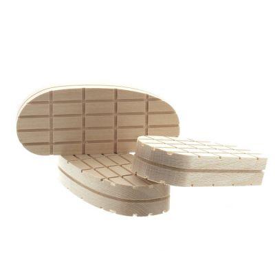 Klauwblokje hout xl 13cm. per stuk