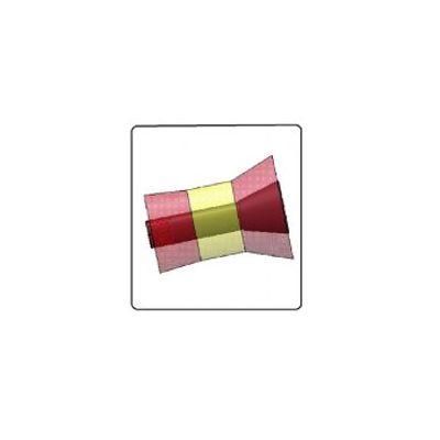 Km horizontale borstel 55 cm geel rood