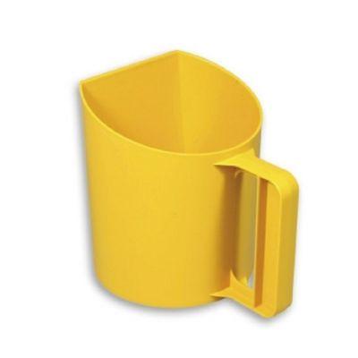 Meel/voerschep staand model geel