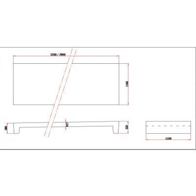 Betonnen boxdek (voetstuk 28/32 cm)