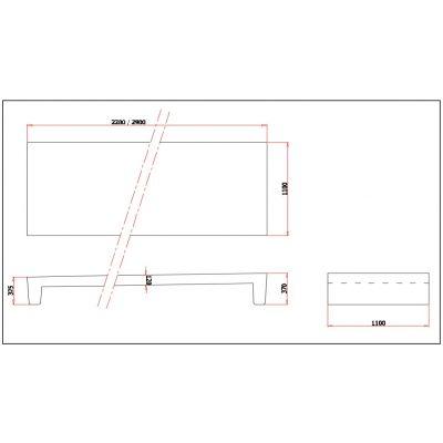 Betonnen boxdek (voetstuk 32,5/37 cm)