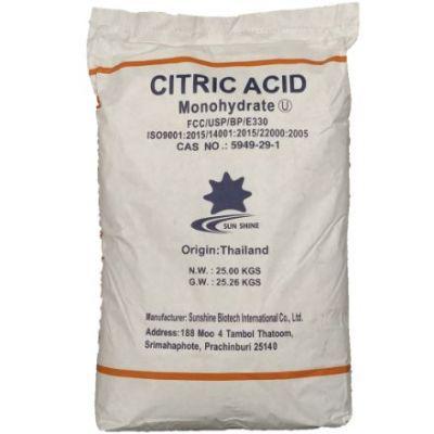Citroenzuur Monohydraat (E330) FOOD Laiwu Taihe zak 25 kg (40 zakken)