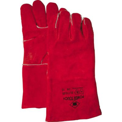 Lashandschoen rood, 5-vingers