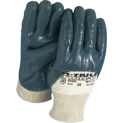 Handschoen blauw NBR tricot boord
