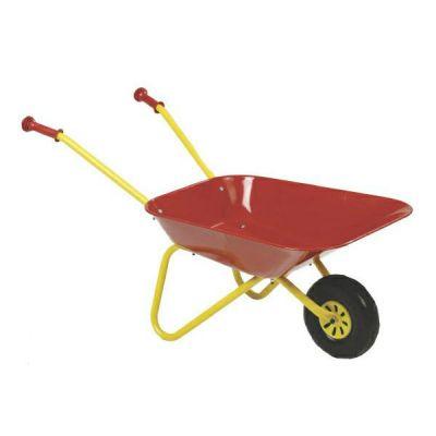 Kinderkruiwagen Rolly Toys, METALEN bak ROOD