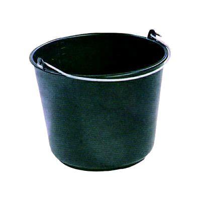 Bouwemmer kunststof zwart 12L.