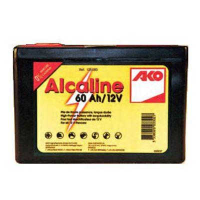 AKO ALKALINE droge batterij 12 V, 60 Ah