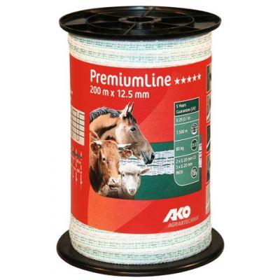 AKO PremiumLine schriklint wit/groen 12,5 mm. 200 m.