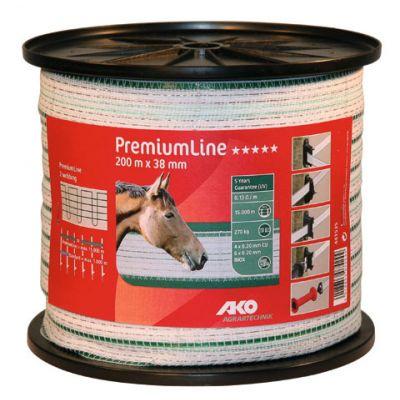 AKO PremiumLine schriklint wit/groen 38 mm. 200 m.