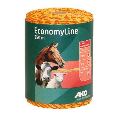 AKO EconomyLine schrikdraad geel/oranje 3RVS 0.20, 250 m.