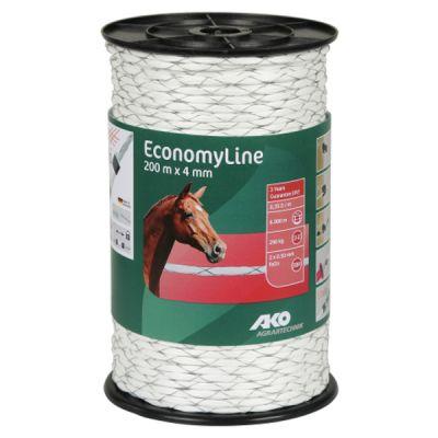 AKO EconomyLine schrikkoord wit -kruisgewikkeld- 4 mm-200 m