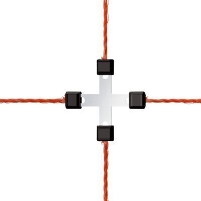 AKO Draad Kruisverbinder Litzclip verzinkt 3 mm (5 stuks)