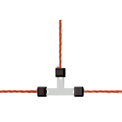 AKO Draad T-verbinder Litzclip verzinkt 3 mm (5 stuks)