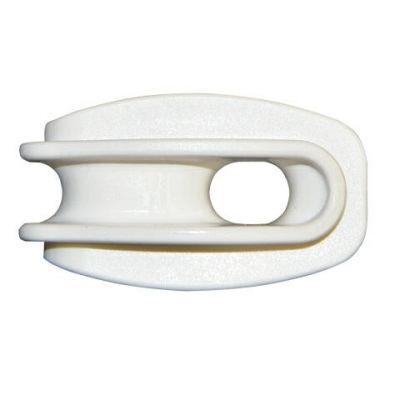 AKO Hoekisolator kunststof wit  voor koord (blister 6 st)