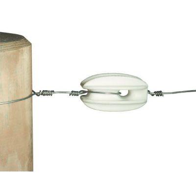 AKO Hoekisolator S polyamide wit v. staaldraad (zakje 10 st)