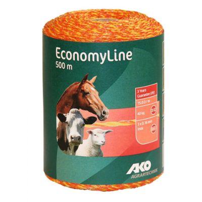 AKO EconomyLine schrikdraad geel/oranje 3RVS 0.16, 500m