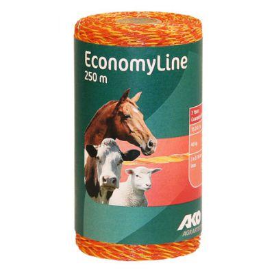AKO EconomyLine schrikdraad geel/oranje 3RVS 0.16, 250m