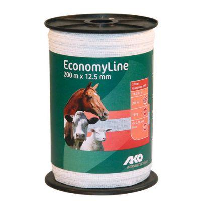 AKO EconomyLine schriklint wit 12.5mm-200m
