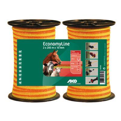 AKO EconomyLine schriklint geel/oranje 1cm-200m *2-pack*