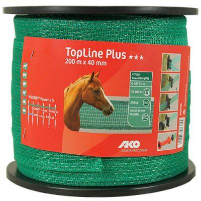 AKO TopLine Plus schriklint groen 4cm-200m