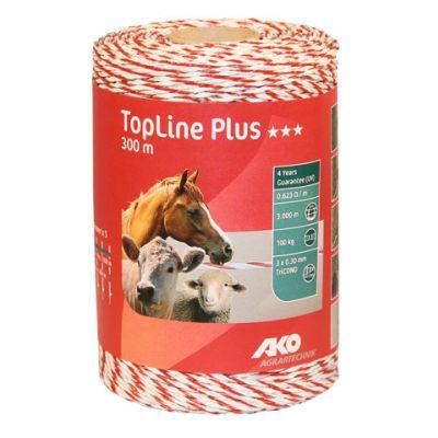 AKO TopLine Plus schrikdraad  wit/rood 3x0.30 TriCOND, 300m