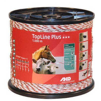 AKO TopLine Plus schrikdraad  wit/rood 9x0.30 TriCOND, 1000m