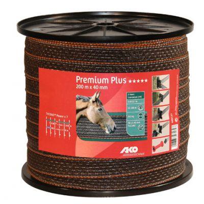 AKO Premium Plus schriklint BRUIN/ORANJE 4cm-200m