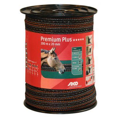 AKO Premium Plus schriklint BRUIN/ORANJE 2cm-200m