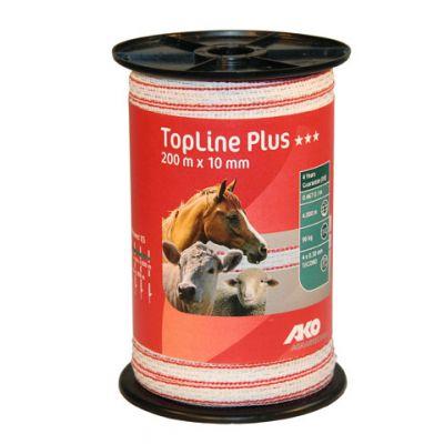 AKO TopLine Plus schriklint wit/rood 1cm-200m
