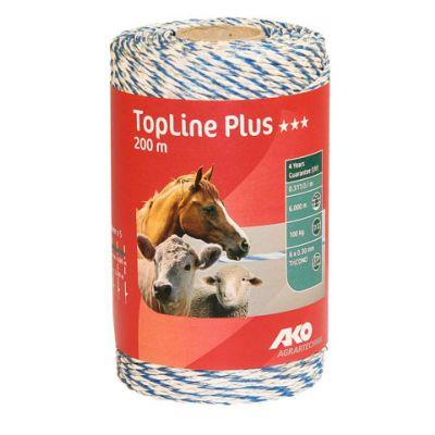 AKO TopLine Plus schrikdraad wit/blauw 3x0.30 TriCond, 200m