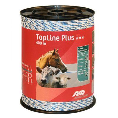AKO TopLine Plus schrikdraad wit/blauw 3x0.30 TriCond, 400m