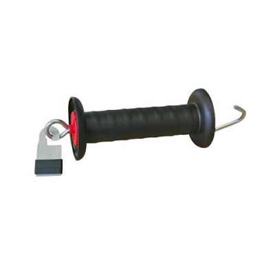 AKO Poortgreep zwart verzinkt + Litzclip lintverbinder 40mm