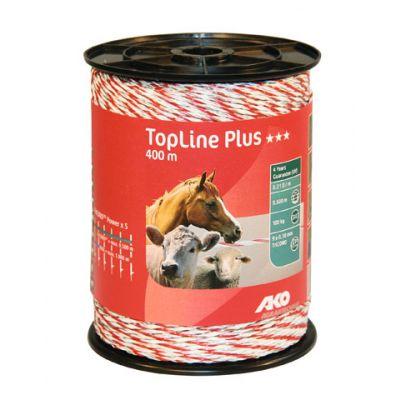 AKO TopLine Plus schrikdraad wit/rood 9x0.30 TriCOND, 400m