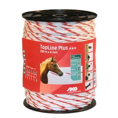 AKO TopLine Plus schrikkoord wit/rood 6mm-200m TriCOND