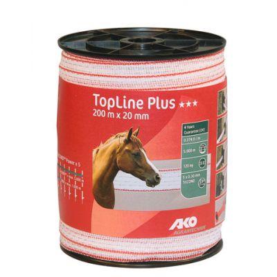 AKO TopLine Plus schriklint wit/rood 2cm-200m