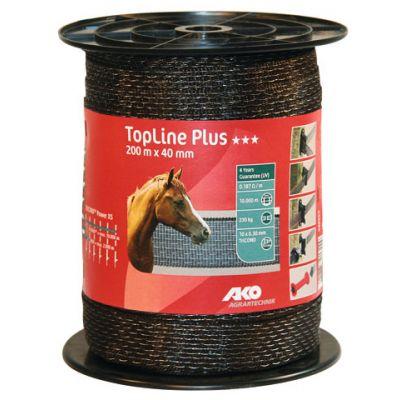 AKO TopLine Plus schriklint bruin 4cm-200m
