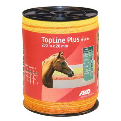AKO TopLine Plus schriklint geel/oranje 2cm-200m
