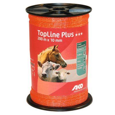 AKO TopLine Plus schriklint oranje 1cm-200m