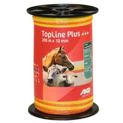 AKO TopLine Plus schriklint geel/oranje 1cm-200m