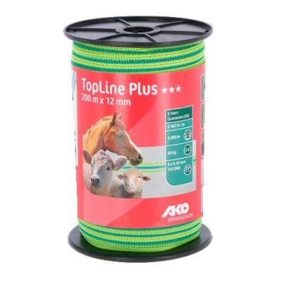 AKO TopLine Plus schriklint neongeel/blauw 12mm-200m