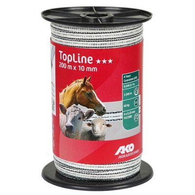 AKO TopLine schriklint wit/zwart 1cm - 200m