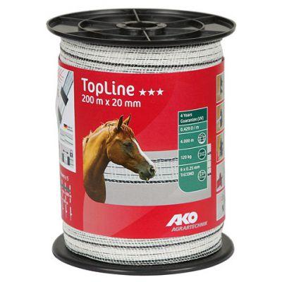 AKO TopLine schriklint wit/zwart 2cm-200m