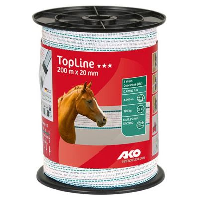 AKO TopLine schriklint wit/petrol 2cm-200m