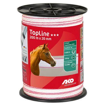 AKO TopLine schriklint wit/pink 2cm-200m