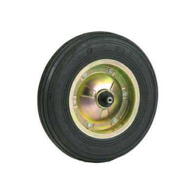 Massief wiel, 400x100, gegalvaniseerde velg, as 13cm