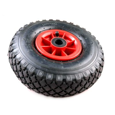 Steekwagenwiel 300-4(260x85) import, 2ply, velg rood