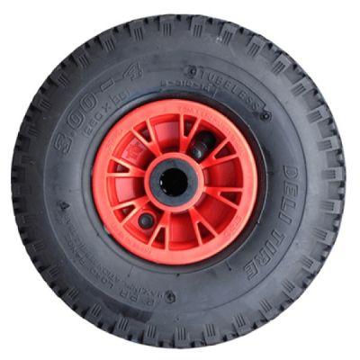 Steekwagenwiel 300-4(260x85)- FORT-, 2ply, velg rood