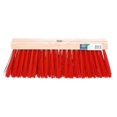 Bezem FSC 35cm, kunstvezel rood  MM