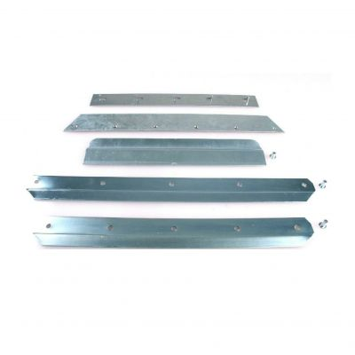 Slijtstrip voor graanschop aluminium met lipje