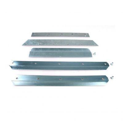 Slijtstrip voor graanschop aluminium (+klinknagels)